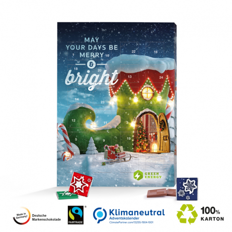 Adventskalender 100 % Karton