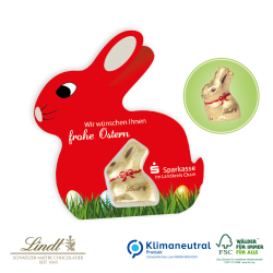 Promotion-Card Hase mit Goldhase von Lindt