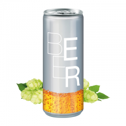 250 ml Bier - Body Label transparent (Exportware, pfandfrei)