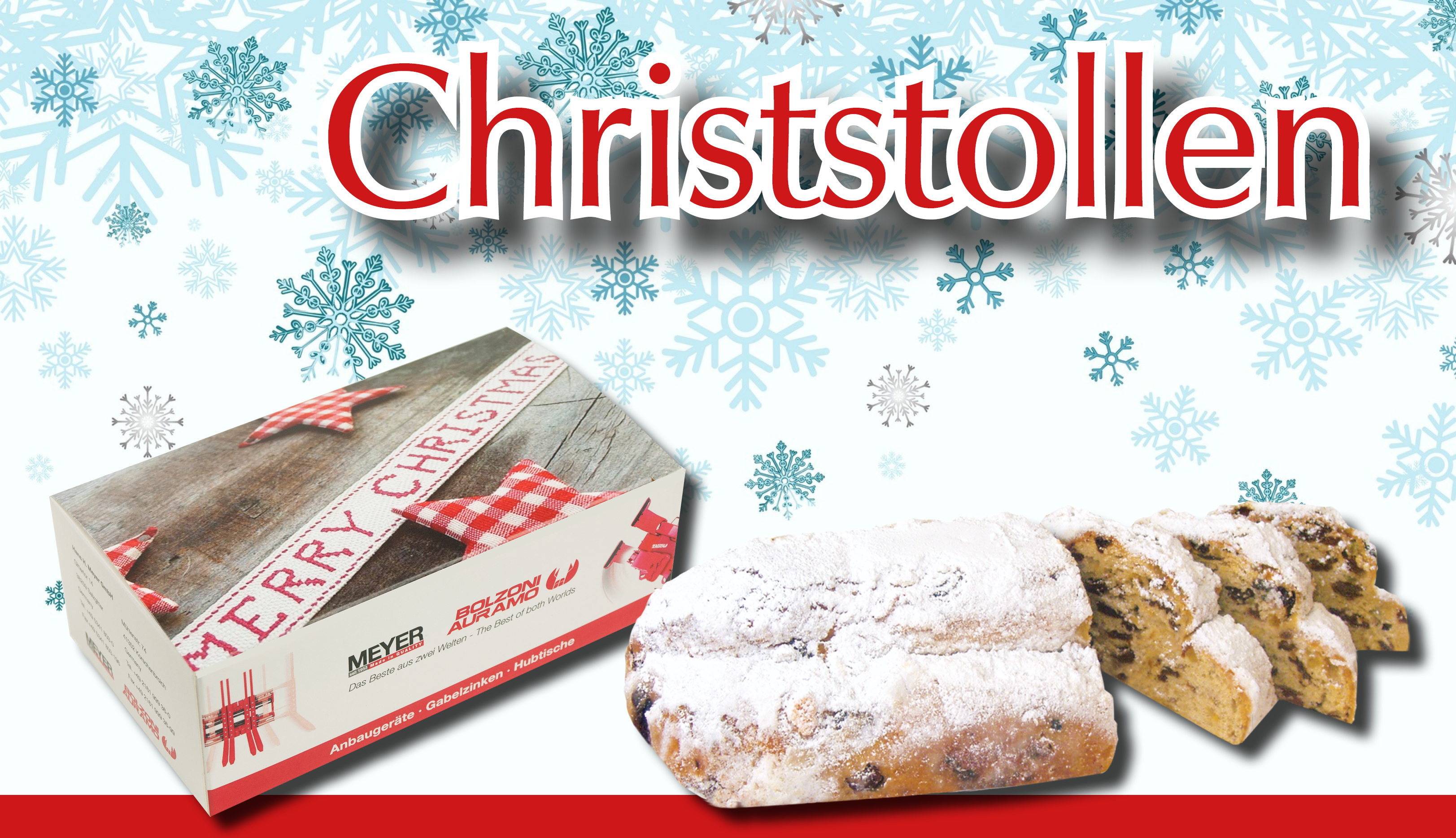 Christstollen in Displaybox