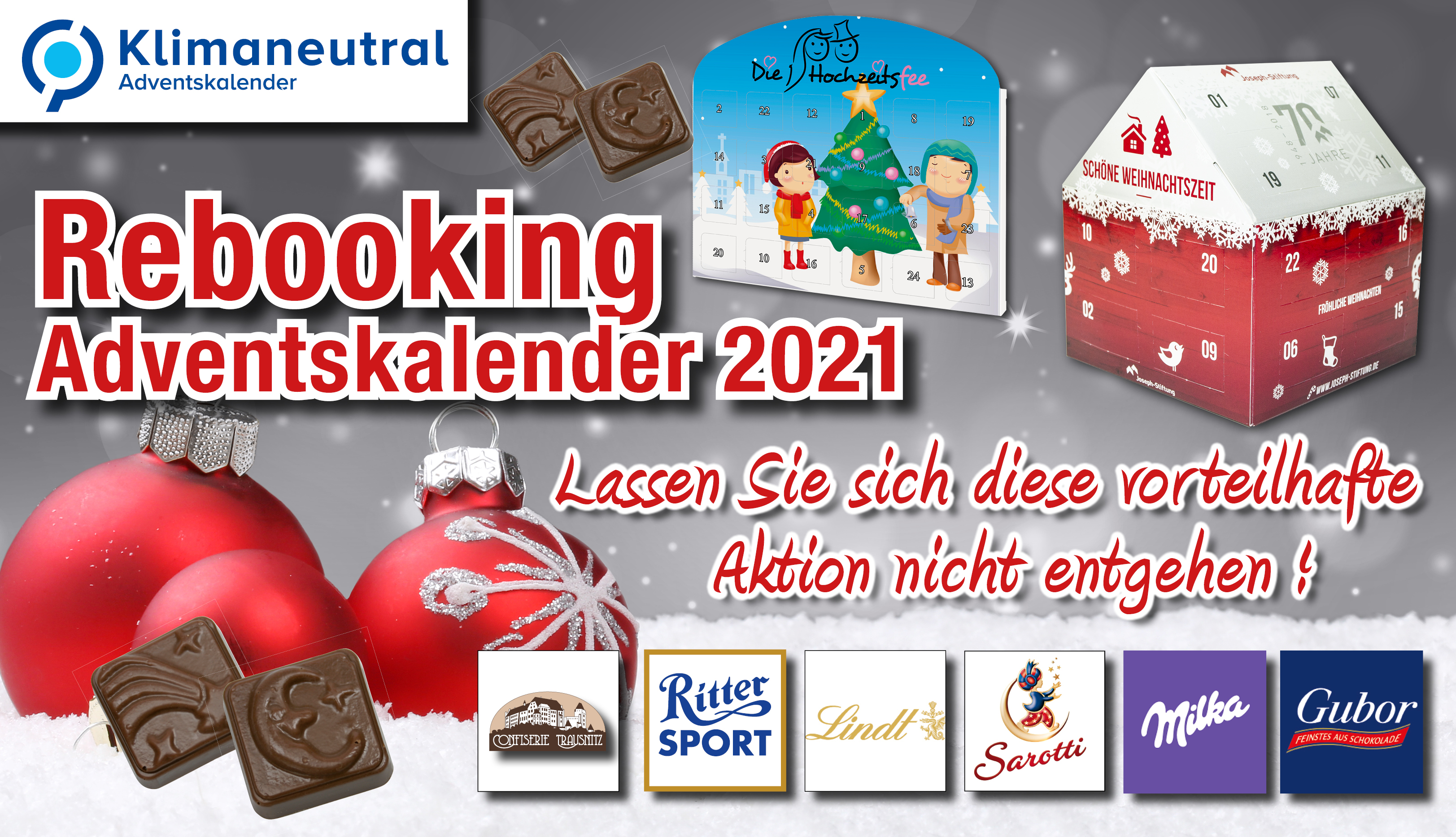 Rebooking-Aktion 2021 - Adventskalender Aktion